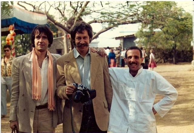 Malcolm Sebastian Baker, Rick Chapman and Robert Dreyfuss-1981-2. Courtesy of Ursula Reinhart