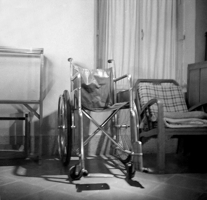 Baba's wheelchair photographed in the 1st week of February, 1969. Courtesy of Sriramamoorthy Collection & AMBCCPT.