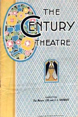 Century Theatre program
