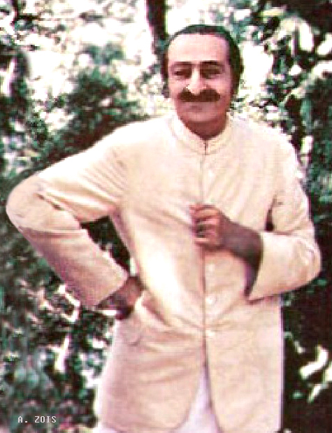 1952 : Meher Baba at the Meher Center, Myrtle Beach, SC. Image edited by Anthony Zois.