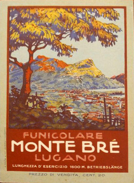 Travel poster of Mt. Bre at that time.