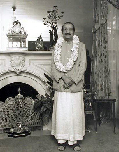 30th July 1956 : Meher Baba in Ivy Duce's home in Washington D.C. - see Glow int. - Nov.2004 issue