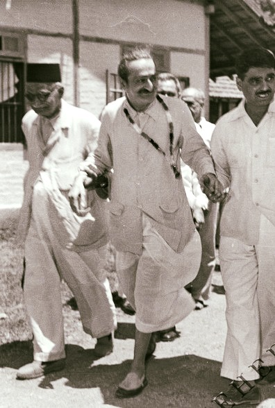 Meher Baba with Eruch & Papa Jessawala. Photo courtesy of MN publication