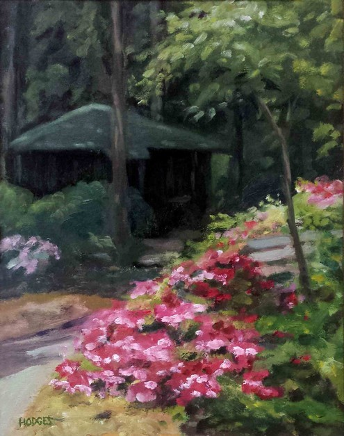 Cabin at Meher Centre, Myrtle Beach ; Painting by Mark Hodges