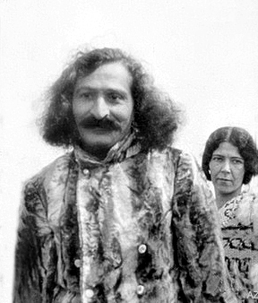 1931 - East Challacombe, Devon, England. Meher Baba with Kim. ( cropped image - edited by Anthony Zois )