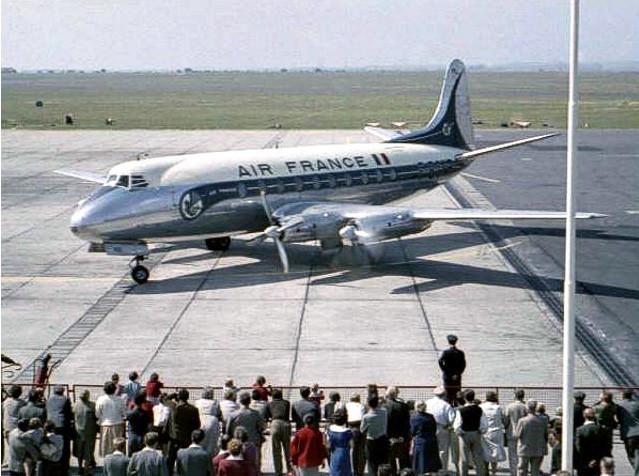 Vickers Viscount at Orly Airport Paris.