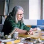 Hedi in her studio