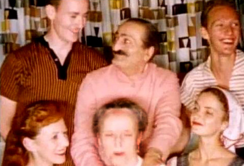 1956 ; [ top ]( l - r ) - Tex Hightower, Baba, Peter Saul - [ bottom ] Bunty Kelly, Margaret Craske & Marie Adair