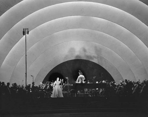 Performing at the Hollywood Bowl, Los Angeles, CA.