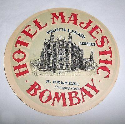 Majestic Hotel, Bombay coaster