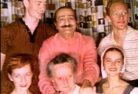 1956 ; [ top ]( l - r ) - Tex Hightower, Baba, Peter Saul [ bottom ] Bunty Kelly, Margaret Craske & Marie Adair