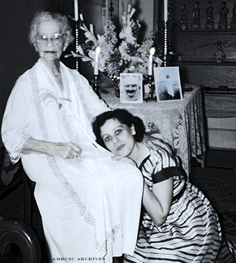 Mildred with Adele Wolkin. Image courtesy of AMBCSC Archives