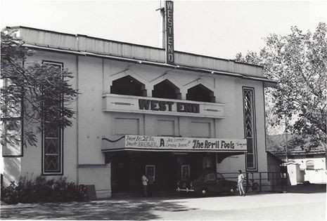 West End Theater in Poona 1976, no longer exists :  Courtesy of Barbara John Connor