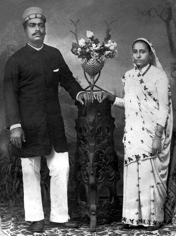 Gulmai with her husband Kaikhushru, India