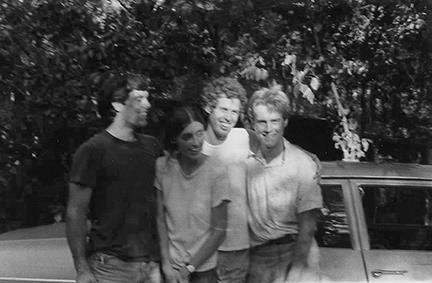 1970s staff and friends at Meher Center - Malcolm Clay, Barbara Plews, Will David, and Lee McBride
