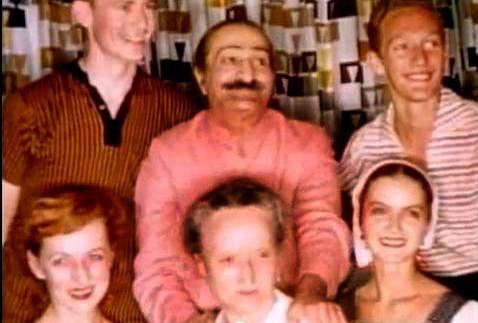 1956 ; [ top ]( l - r ) - Tex Hightower, Baba, Peter Saul [ bottom ] Bunty Kelly, Margaret Craske & Marie Adair