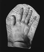 Cast of Baba's hand from the original