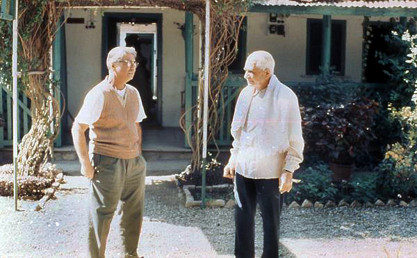 Courtesy of Elizabeth Giles -  Adi with Eruch at the Trust compound, Ahmednagar, India