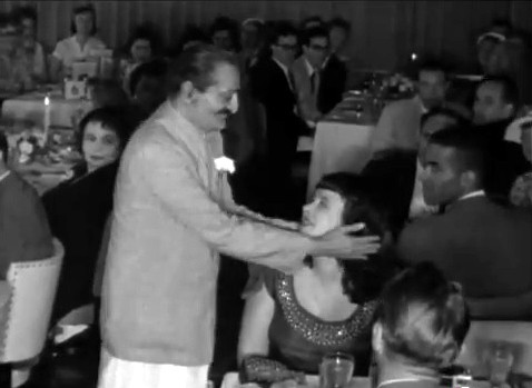 Meher Baba and Charmain Duce at Longchamps Restaurant, New York City, 22nd July 1956