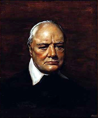Portrait of Winston Churchill.1