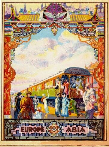 Chinese Eastern Railway travel poster