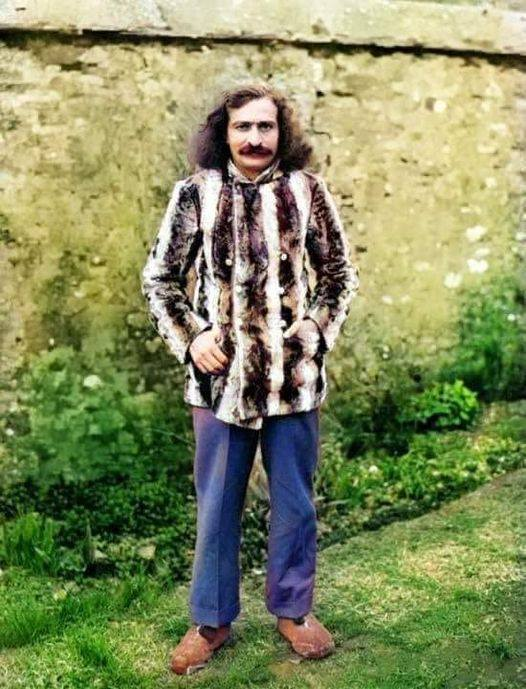35. Baba at East Challacombe, Devon, England. Colourization by Nagendra Gandhi
