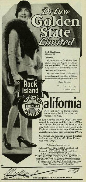 Train promotion magazine advertising