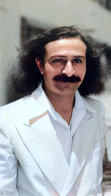 Meher Baba at the Paramount Studios in Hollywood, Los Angeles, CA.  Either May 31st or June 2nd 1932. Cropped image & image colourized by Anthony Zois.