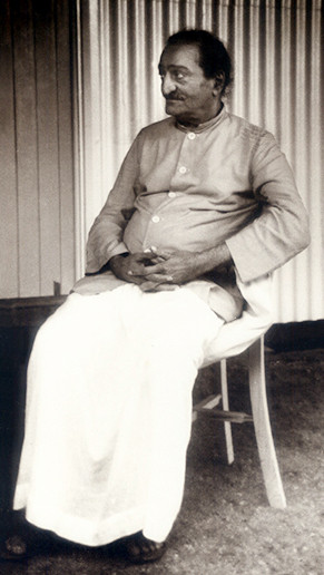 Meher Baba at Avatar's Abode - Photographed by Colin Adams
