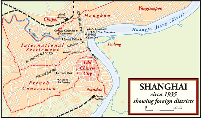 The Shanghai districts in 1935