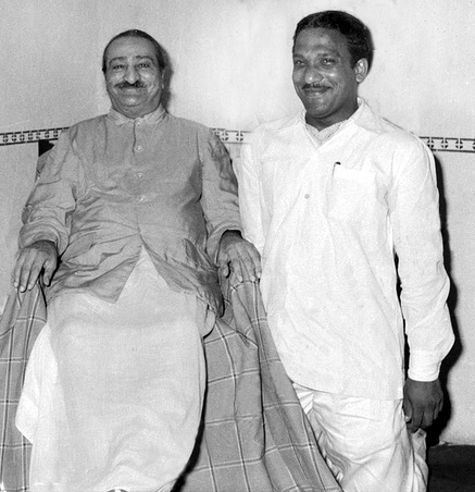 26th May 1960, Bhavsar house visit. Photo by Meelan. Courtesy of MN Publ. - cropped image