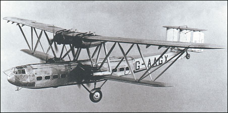 "Imperial Airways ""Hadrian"" ; HP-42 Hadley-Page biplane"
