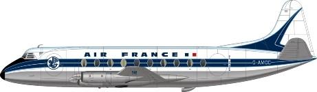 "Vickers ""Viscount"" twin propellar plane"