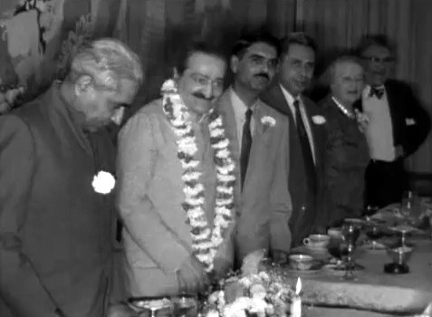 Meher Baba at Longchamps Restaurant, New York City, 22nd July 1956