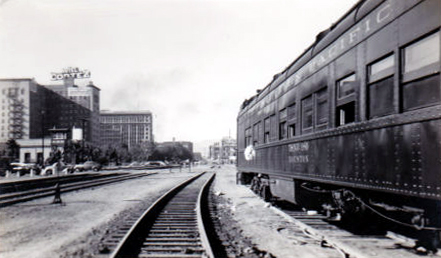 1940's Train car El Paso Texas - vintage railroad photo