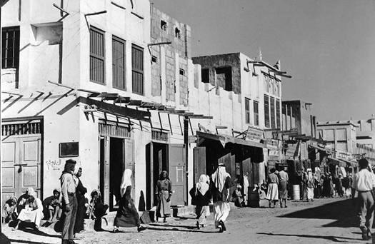 Shoppers strolling down King Saud Street in Al-Khobar.