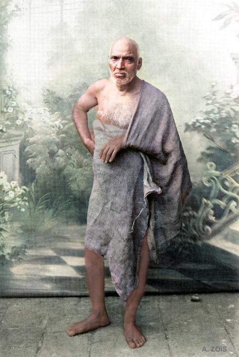Sadguru Upasni Maharaj. Image colourized by Anthony Zois.