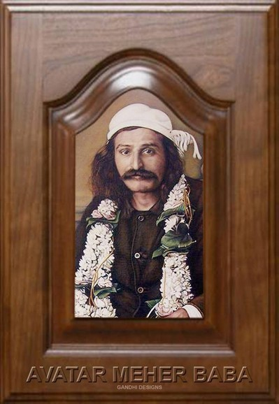 Meher Baba's portrait painted by Anthony Davis