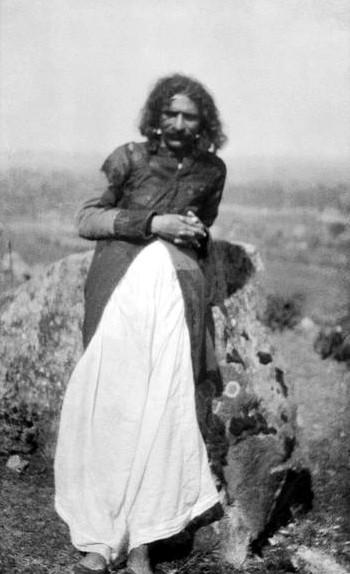 5th June, 1927 at Aurangabad, India. Meher Baba wearing the Kamli Coat. Photo taken by Rustom Irani. Courtesy of MSI Collection