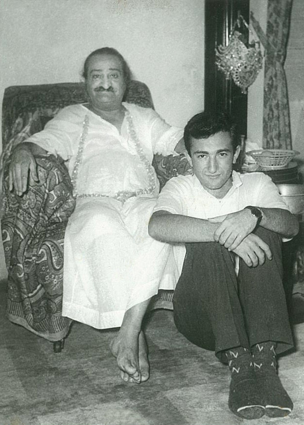 1961 : Meher Baba with Irwin Luck at Guruprasad, Poona, India