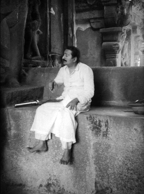 MSI Collection - Meher Baba at Ellora. Original B/W image.