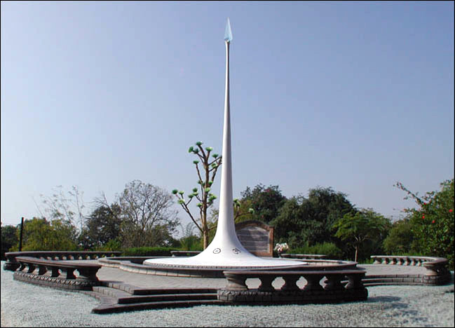 Meher Baba's Memorial Tower at Lower Meherabad, India