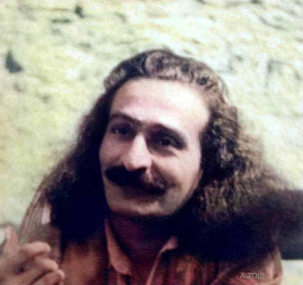 1934 : Meher Baba in Zurich just prior to visiting Geneva. Image colourized by Anthony Zois.