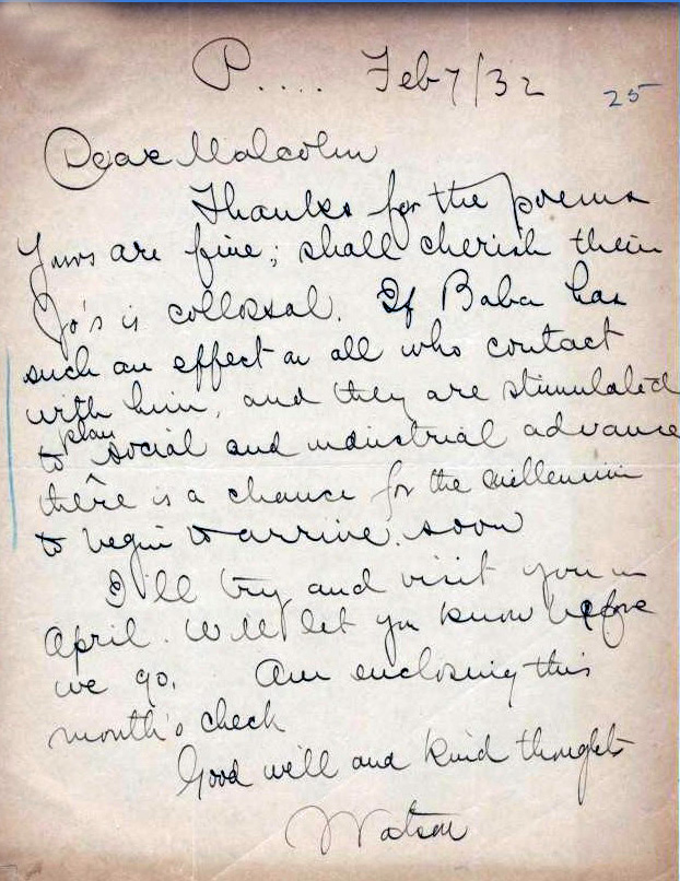 Courtesy of the Avatar Meher Baba Trust Archives, India