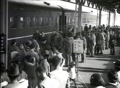 Dairen railway platform - South Manchuria Railway