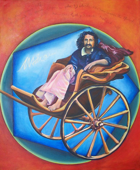 """Baba on the road"" 2016 ; Kathleen Gray. Acrylic on canvas"