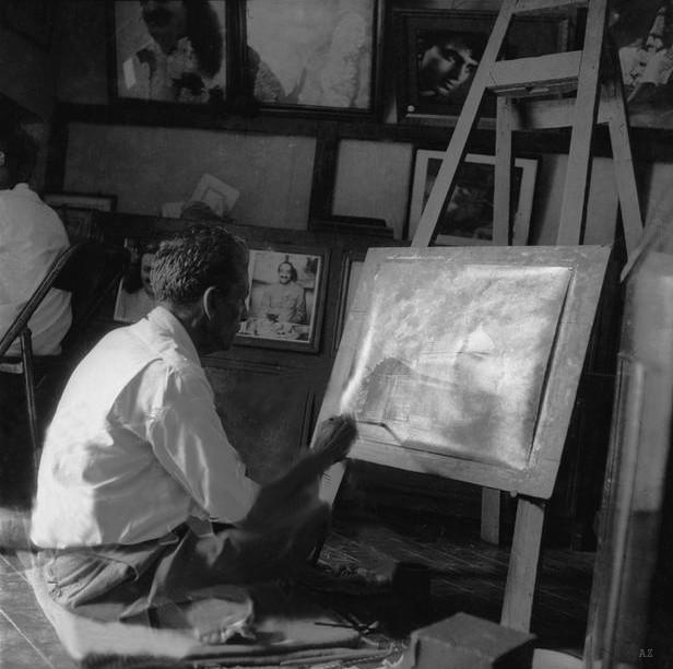 Panday in his studio
