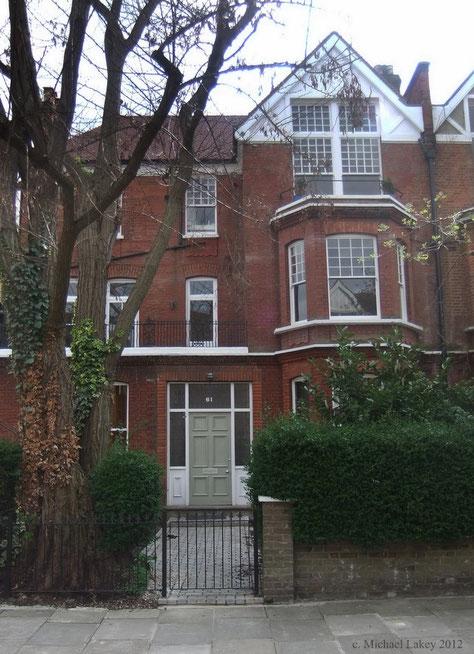 61 Compayne Gardens, Hampstead - Photo taken by Michael Lakey - April 2012