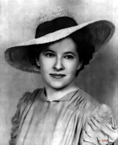 Jeanne Shaw. Image enhance by Anthony Zois.