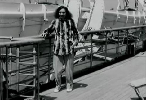 1932 - Baba on board the SS Bremen in New York Harbour, USA